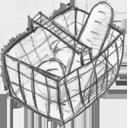 иконка basket full, полная корзина, покупки, шоппинг,