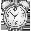 иконка clock, часы, будильник, время,