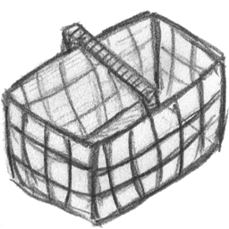 иконки basket empty, пустая корзина, шоппинг, покупки,
