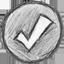 иконка tick, галочка, пометка, отметка,