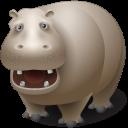 иконки hippopotamus, гиппопотам, бегемот, животное, животные,