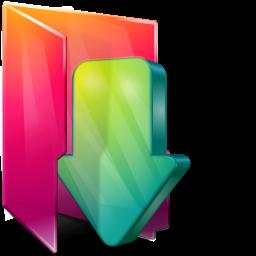 иконка folder downloads, мои загрузки, папка,