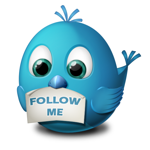 иконка twitter, follow me, твиттер, птичка, птица,