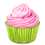 иконка cupcake, кекс,