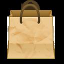 иконка paper bag, бумажный пакет, сумка,