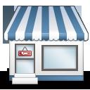 иконки shopfront, витрина, магазин, здание,