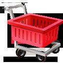 иконки empty shopping cart, пустая тележка, шоппинг,