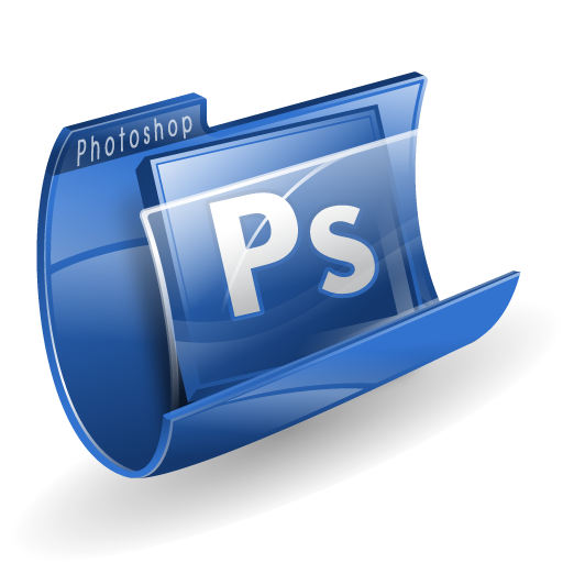 иконки photoshop, фотошоп, папка,
