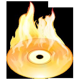 иконки burn disk, прожиг диска, диск, огонь,
