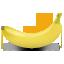 иконка banana, банан, фрукты, фрукт,