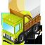 иконки loaded truck, грузовик, автомобиль, машина,