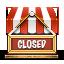 иконки shop closed, закрытый магазин, закрыто,