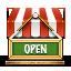 иконки shop open, открытый магазин, открыто,