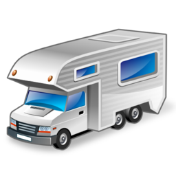 иконки motorhome, фургон, дом на колесах, машина,