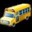 иконка school bus, школьный автобус, машина,
