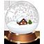 иконка snow globe, снежный шар,