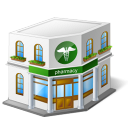 иконки pharmacy, аптека, здание,