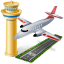 иконка airport, аэропорт, самолет,
