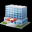 иконки hospital, госпиталь, больница, здание,