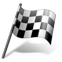 иконка auto racing, finish flag, финишный флаг,
