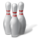 иконки bowling, pins, боулинг, кегли,