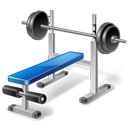 иконки weight training, bench, качалка, тренажерный зал, тренажер,