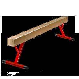 иконки gymnastics, balance beam, гимнастика, бревно,