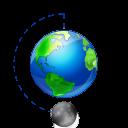 иконка moon, phase, full, earth, земля, планета, луна, фазы луны,