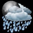 иконки  night rain, ночной дождь, погода,