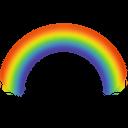иконка rainbow, радуга, погода,