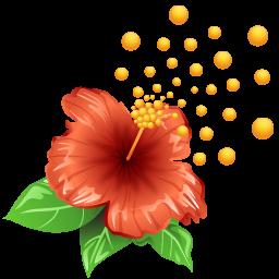 иконка pollen, flower, цветок, пыльца,