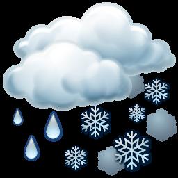 иконки sleet, дождь со снегом, погода,
