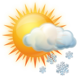 иконки snow, occasional, местами снег, погода, ясно, солнце,