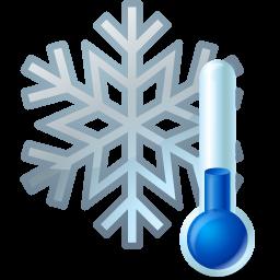 иконки thermometer, snowflake, термометр, снежинка,