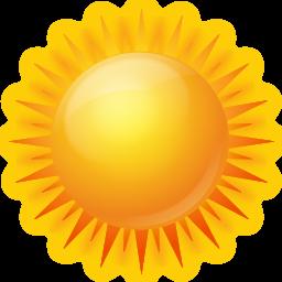иконка sunny, ясно, солнечно, солнце, погода,
