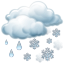 иконка sleet, дождь со снегом, погода,