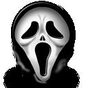 иконка scream, маска, крик,