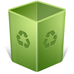 иконки recycle bin empty, пустая корзина, пустой бак,
