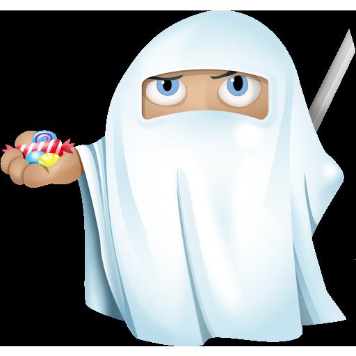 иконка ninja, ghost, приведение, призрак, halloween,