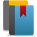 иконки library, библиотека, книга, книги, закладка, book,