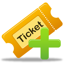 иконка create ticket, добавить, добавить билет, тикет, создать тикет,