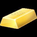 иконка gold, bullion, золото, золотой слиток,