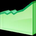 иконка line chart, линейный график, диаграмма, статистика,