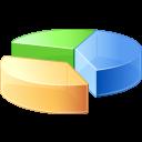 иконки  pie chart, круговая диаграмма, график, статистика,