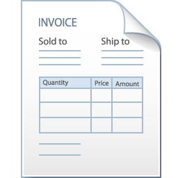 иконки invoice, счет фактура, счет, квитанция, документ,