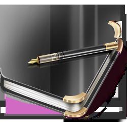 иконки notebook, ежедневник, дневник, книга,
