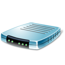 иконка modem, blue, модем,