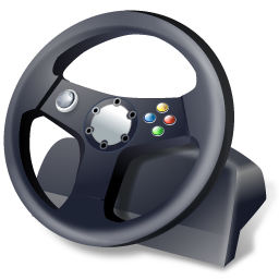 иконка gaming wheel, руль,