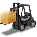 иконки forklift truck, loaded, погрузчик,