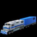 иконка diesel locomotive, локомотив, поезд,